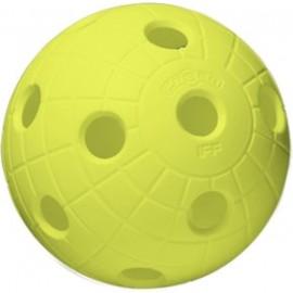 Unihoc BALL CRATER NEON YELLOW - Floorball Ball - Unihoc
