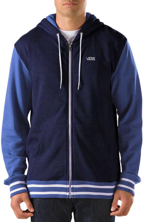 vans core color block mens zip hoodie