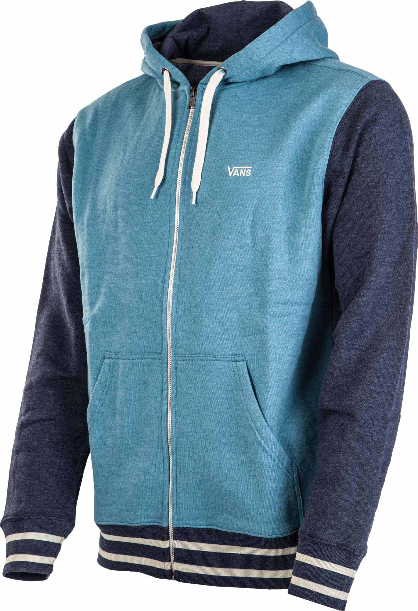 vans core color block mens zip hoodie