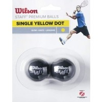 Wilson STAFF SQUASH 2 BALL YEL DOT - Squash ball