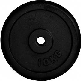 Fitforce WEIGHT DISC PLATE 10KG BLACK METAL - Weight Disc Plate
