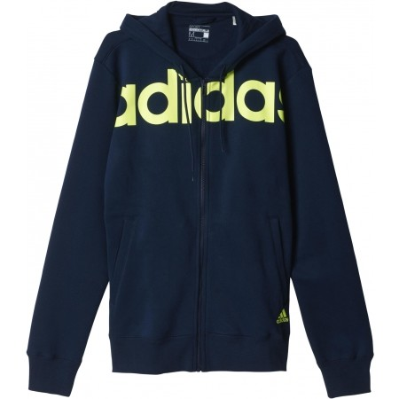 Men's sweatshirt - adidas LINEAR FULL ZIP HOODIE FLEECE - 1