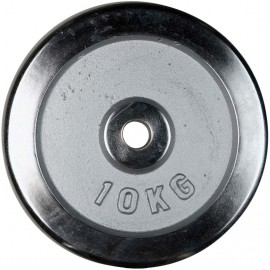 Fitforce WEIGHT DISC PLATE 10KG CHROME 30MM - Weight Disc Plate