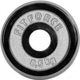 Fitforce WEIGHT DISC PLATE 0,5KG CHROME