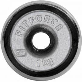 Fitforce WEIGHT DISC PLATE 1KG CHROME - Weight Disc Plate