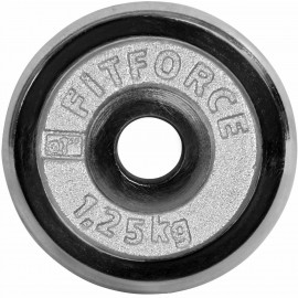Fitforce WEIGHT DISC PLATE 1.25 KG CHROME