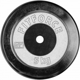 Fitforce WEIGHT DISC PLATE 5KG CHROME - Weight Disc Plate
