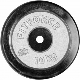 Fitforce WEIGHT DISC PLATE 10KG CHROME - Weight Disc Plate