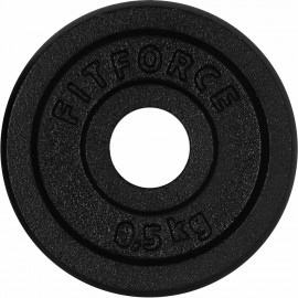 Fitforce WEIGHT DISC PLATE 0,5KG BLACK METAL - Weight Disc Plate