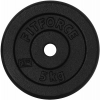 Fitforce WEIGHT DISC PLATE 5KG BLACK METAL