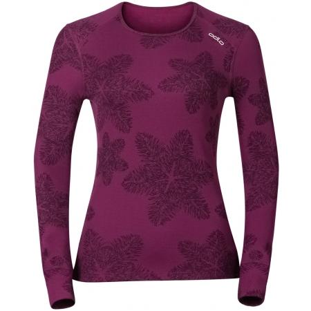 Women's functional T-shirt - Odlo WARM EFFECT PRINTED TEE - 1