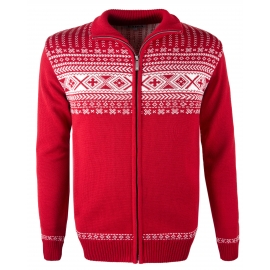 Kama SWEATER PATTERN ZIP - Men's sweater