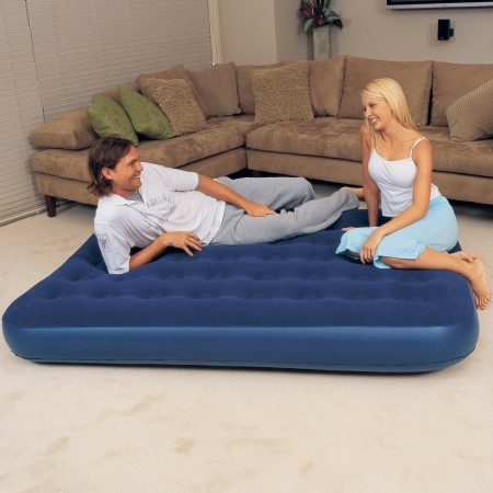 FLOCKED AIR TWIN - Inflatable mattress - Bestway FLOCKED AIR TWIN