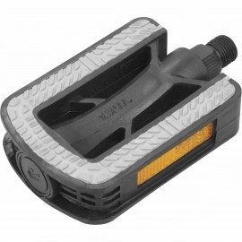 One PLASTIC BICYCLE PEDALS WITH ANTI-SLIP RUBBER